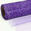 Sheer, Organza, purple, 2.2m x 48cm, (WAB0019)